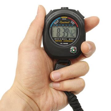 Electronic Timer Waterproof Wt001 waterproof handheld lcd sports stopwatch digital chronograph digital counter timer at banggood
