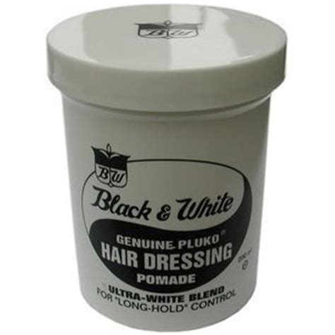 Pomade Black And White black white genuine pluko hair dressing pomade 7oz hair care styling products