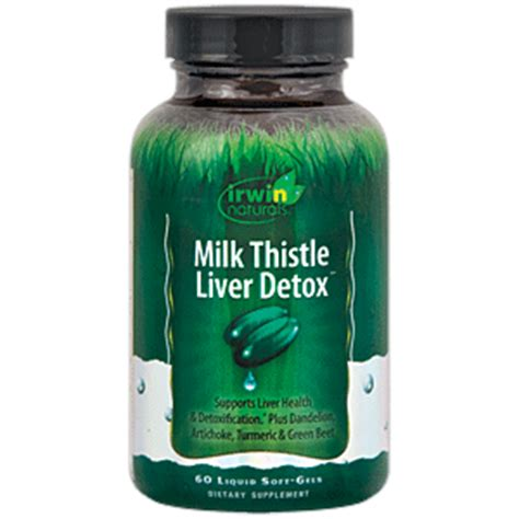 Does Milk Thistle Help With Detox by Irwin Naturals Milk Thistle Liver Detox 60 Softgels
