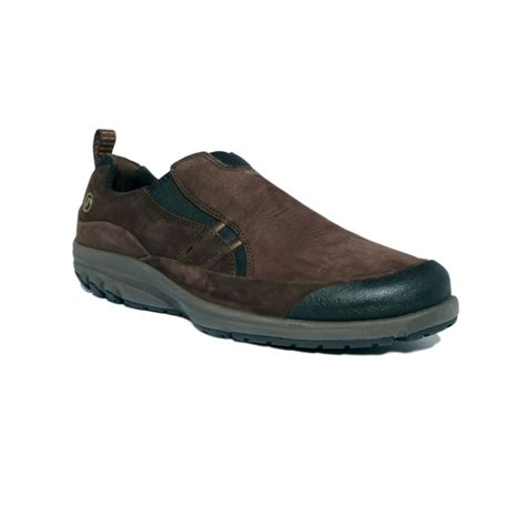 rockport st cruzer slip on shoes in brown for