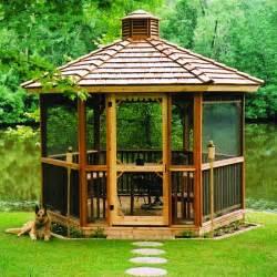 Hexagon Cedar Gazebo Kit 8ft W86 » Home Design 2017