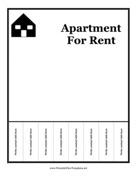 Apartment For Rent Flyer Template Free by Apartment For Rent Flyer