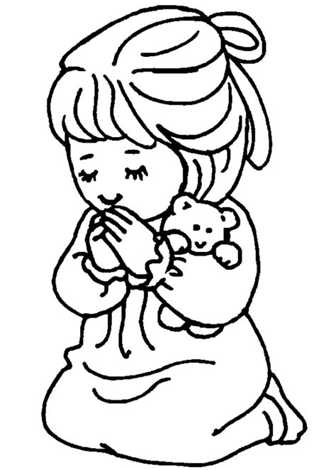Children Praying Coloring Page Coloring Home Children Praying Coloring Page