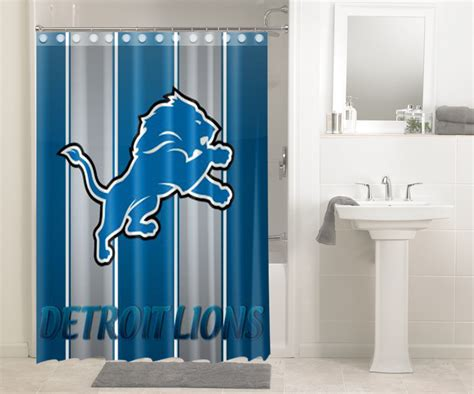 detroit lions shower curtain detroit lions nfl football 549 shower curtain waterproof