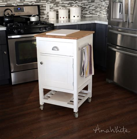 space for kitchen island small diy kitchen cart scrappy geek