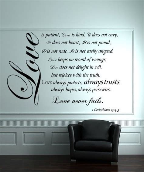 Wall Sticker Decoration Art vinyl decal wall art sticker love is patient by