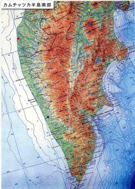 Dinara Top 1 2 カムチャツカ半島南部地図