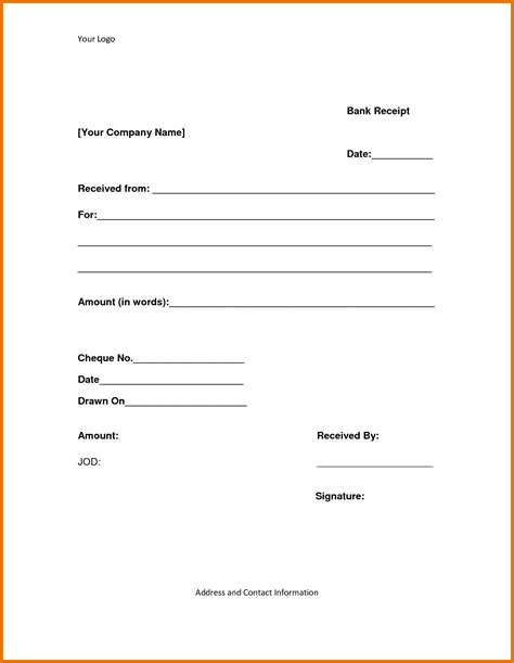 template for a receipt format of receipt of payment website resume cover letter