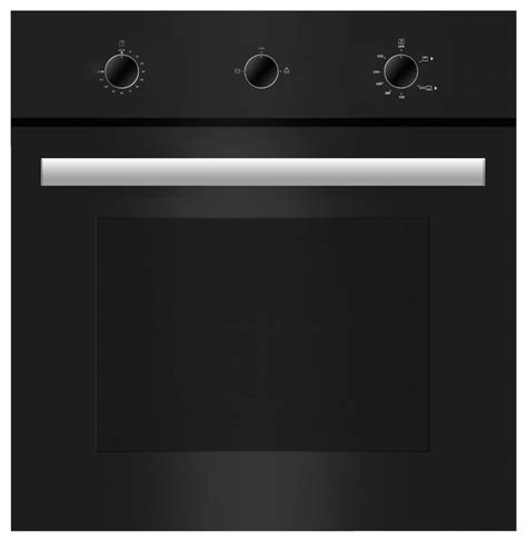 Tempered Glass Oren empava 24 quot tempered glass built in single gas wall oven black contemporary ovens by