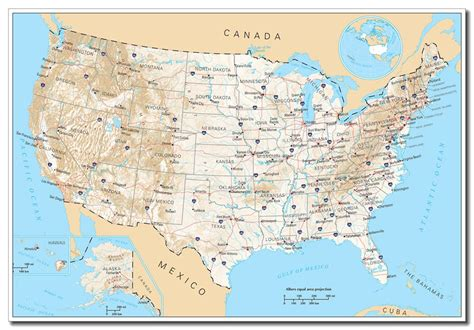 america road map poster 36 quot x24 quot usa united states road map large poster wall