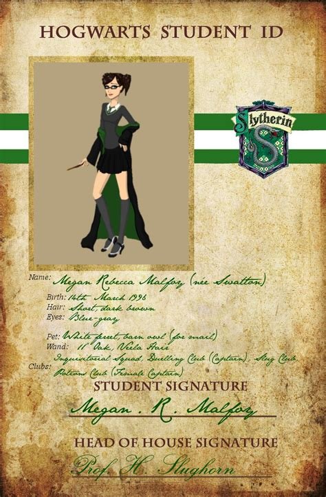 Deviant Student Id Card Template by Slytherin Student Id Card By Aimi Chan80 On Deviantart