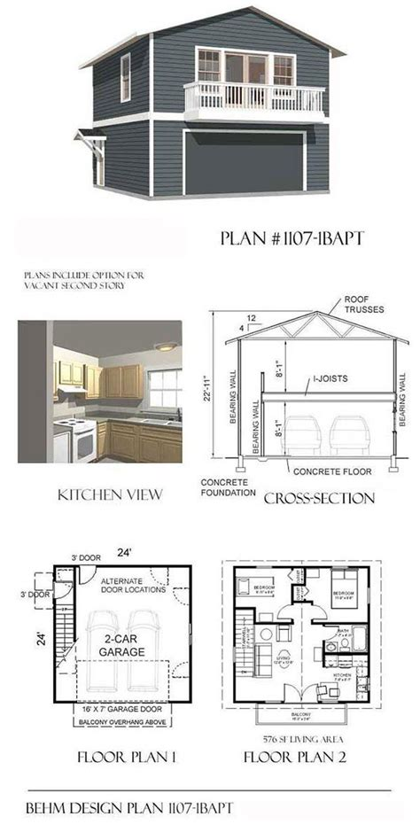Garage Plans With Apartment by Garage Plans Two Car Two Story Garage With Apartment And