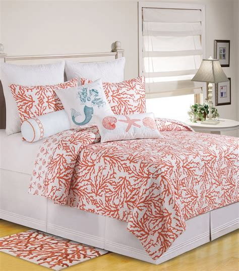 coral colored bedding coral colored comforter and bedding sets