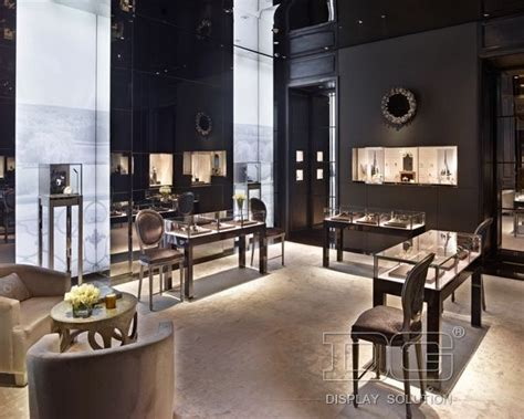 je76 high end jewelry store interior design display