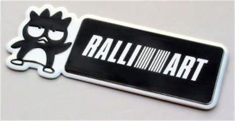 Emblem Racing Ralliart Chrome Blok badtz maru ralliart emblem evo x exterior parts evo x exterior exterior lancershop