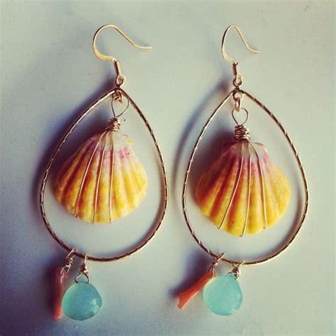Handmade Shell Earrings - handmade seashell earrings virily