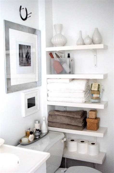 Shelving Ideas For Bathrooms | 53 bathroom organizing and storage ideas photos for
