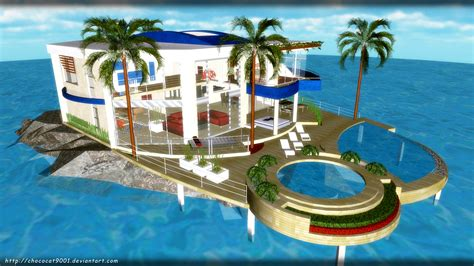 vacation house vacation house in ocean mmd stage dl by diemdo shiruhane on deviantart