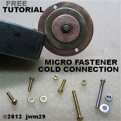 cold connections jewelry cold connections with micro fasteners jewelry