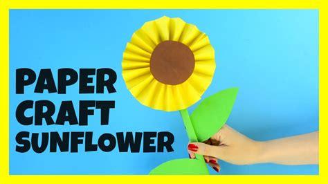 Sunflower Paper Craft - sunflower paper craft for