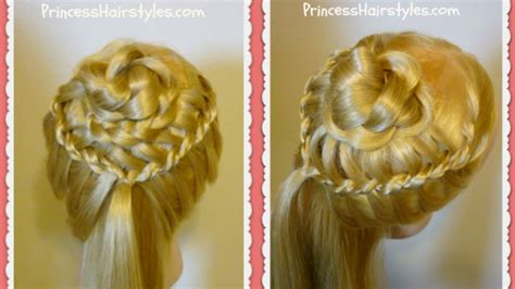 wedding hairstyles with braids youtube braided flower corsage hairstyle wedding prom princess