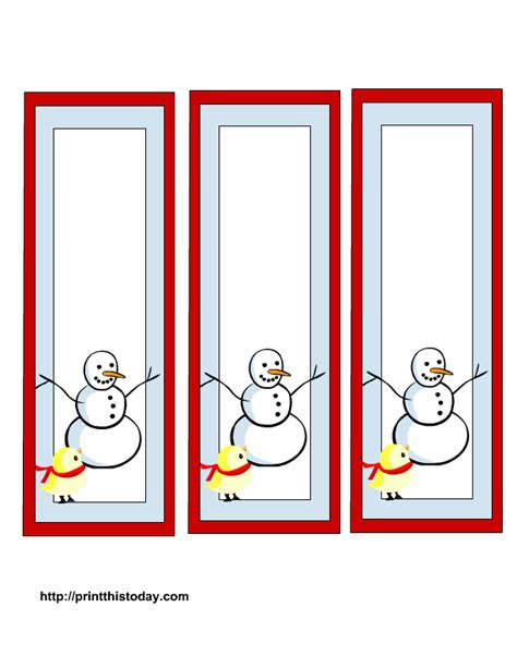 templates bookmarks printable free free winter bookmarks printable templates