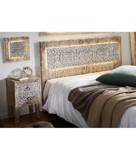 cabeceros de madera comprar cabecero de cama madera con leds
