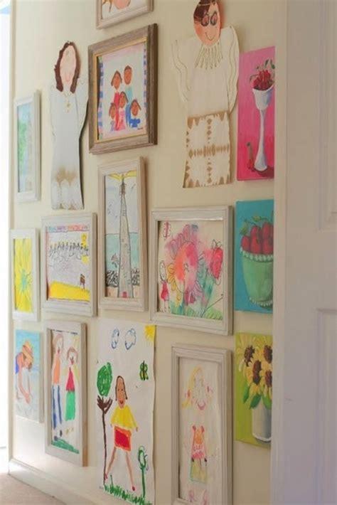 how to display art 10 creative ways to display kid s artwork chalk kids