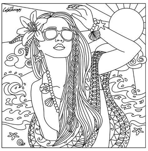 200 gorgeous free colouring pages for adults crafts on sea beach babe coloring page beautiful women coloring pages