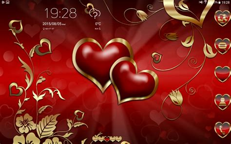 love themes go launcher ex hearts love go launcher theme android apps on google play