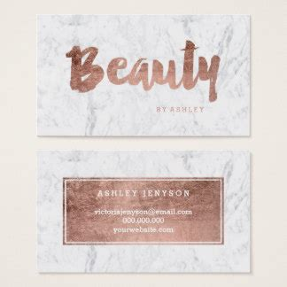 beauty business cards templates zazzle