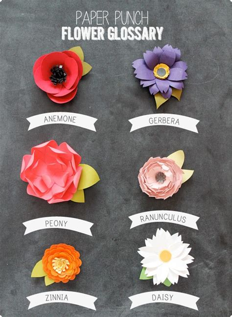 How To Make A Paper Punch - easy paper punch flowers damask