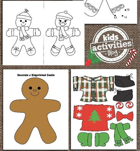 printable gingerbread bookmarks printable gingerbread man activities for kids