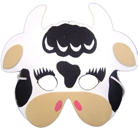 printable cow face mask pictures to pin on pinterest