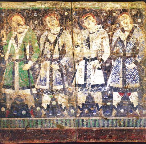 Wall Art Mural file kizil cave 8 donor figures jpg wikimedia commons