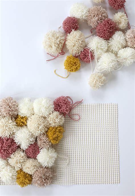 how to make an awesome diy pom pom rug