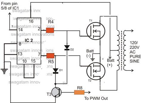 modified sine wave inverter circuit diagram modified