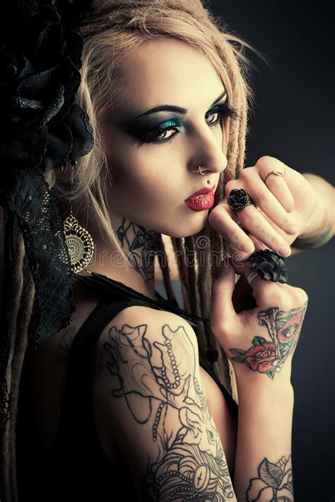 tattoo inspired clothing black color stock photo image 49353435