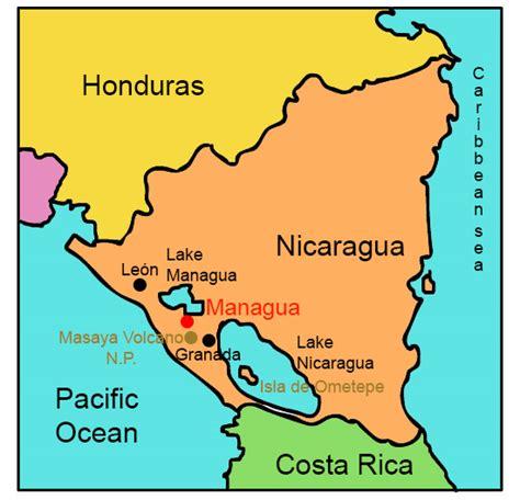 nicaragua on a map nicaragua for