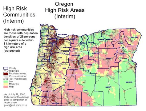 map of oregon forest fires oregon map map2