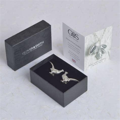 Pheasant Cufflinks UK Handmade Shooting Gifts For Men