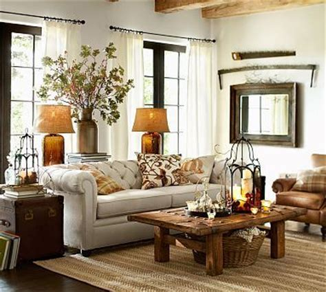 decorating a sofa table behind a couch chesterfield sofa potterybarn i like chunky big ls