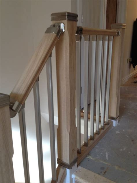 metal landing banister and railing staircase solution stair parts refurbish landing kit