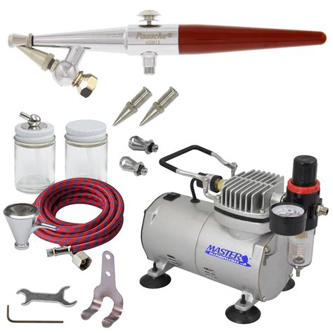 paasche hs single airbrush set w air compressor