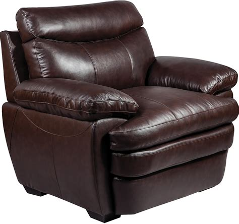 brown living room chairs marty genuine leather chair brown the brick