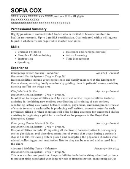 medical scribe resume medical scribe resume resume ideas 30 best