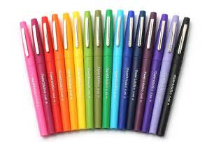 best colored pens paper mate flair felt tip pen medium point 16 color
