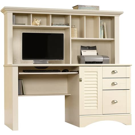 sauder harbor view computer desk with hutch antiqued white top 10 best corner computer desk with hutch in 2018 reviews our great products