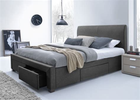 King Size Storage Bed Frame King Size Bed With Storage King Size Platform Bed Frame With Storage Modern Storage Bed
