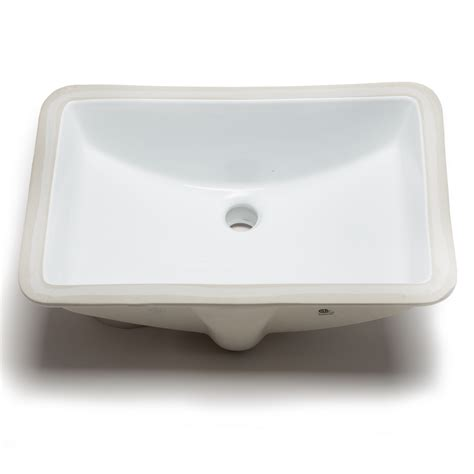 Ceramic Bowl Bathroom Sinks Hahn Ceramic Bowl Rectangular Undermount Bathroom Sink